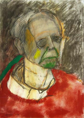 Alzheimer's Self-Portraits Red