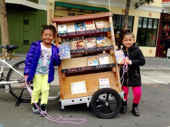 This Librarian Bicycles Around San Francisco Towing a Miniature Library With Free Books