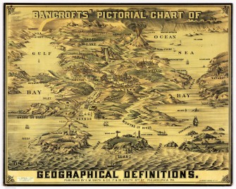 Confusing Geography Terms (Somewhat) Clarified on this Beautiful Vintage Map