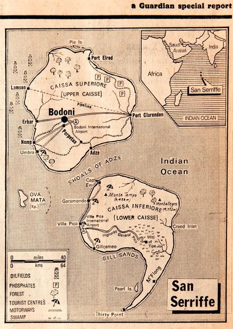 Education Centre map San Serriffe