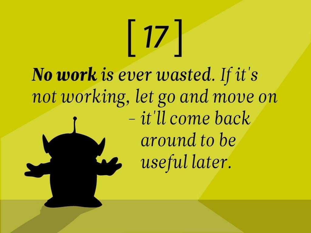 5 Writing Rules From Pixar