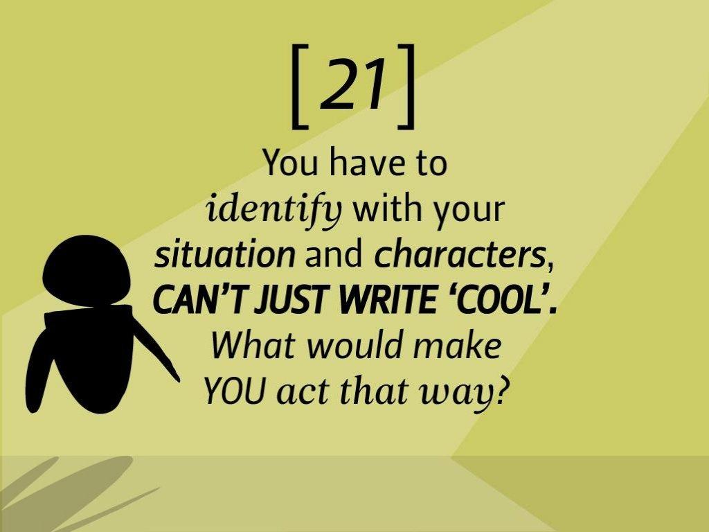 Pixar Storytelling Rules 21