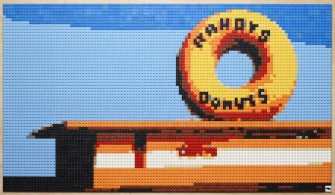 Andy Bauch Uses Lego Bricks to Create Pop Art Mosaic Masterpieces
