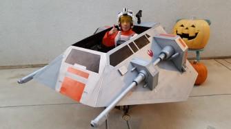 World's Best Dad Converts Son's Wheelchair into Star Wars' Snowspeeder for Halloween