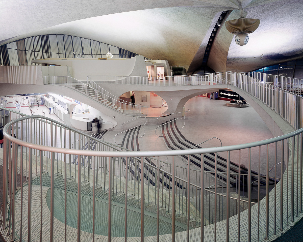 TWA Terminal JFK Airport interior, designed by Eero Saarinen, USA --- Image by © Nathan Willock/VIEW/Corbis