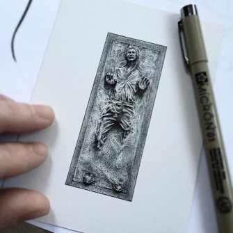 These Miniature Movie Icons are Drawn With Dots