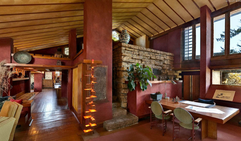 frank lloyd wright taliesin phoenix az arizona restaurant spring green wi