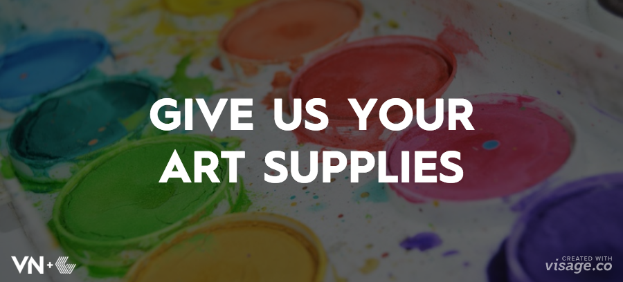 Have Extra Art Supplies? We'll Take Them