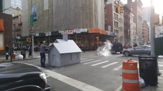Why Was this Artist Pushing a Tiny House Through NYC?