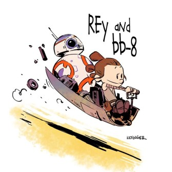 Star Wars: The Force Awakens, Drawn in the Style of Calvin & Hobbes