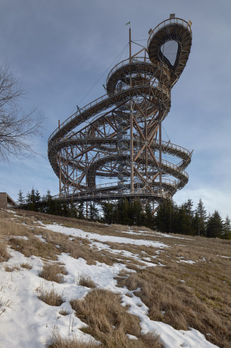 This Towering Sky Walk Has a 330 Foot Slide to Get Back Down