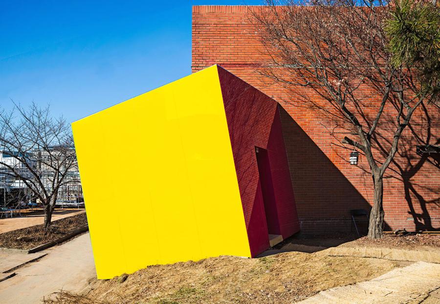 'Block' pavilion doorway.