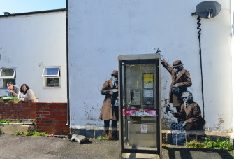 This Banksy Mural is selling for $300,000, and It Comes with a House!