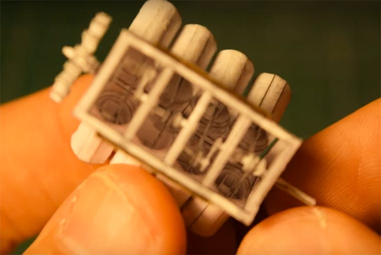 miniature-paper-V8-engine-5