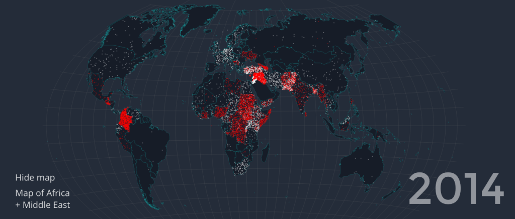 Mapping the Worst Refugee Crisis in Recent History