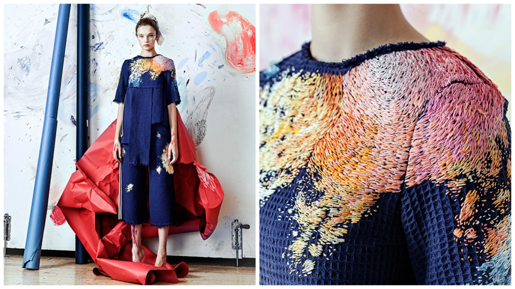 This Paint-Splattered Clothing Is Actually Incredible Embroidery