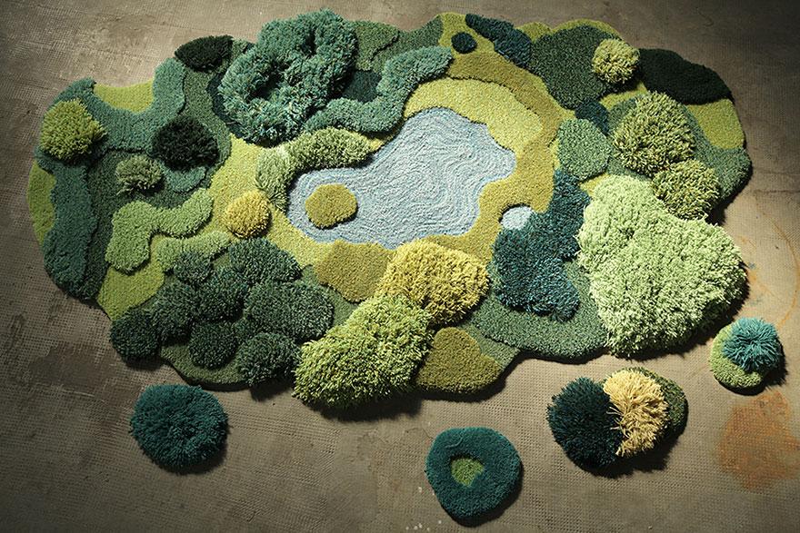 Mossy Rugs, By Alexandra Kehayoglou