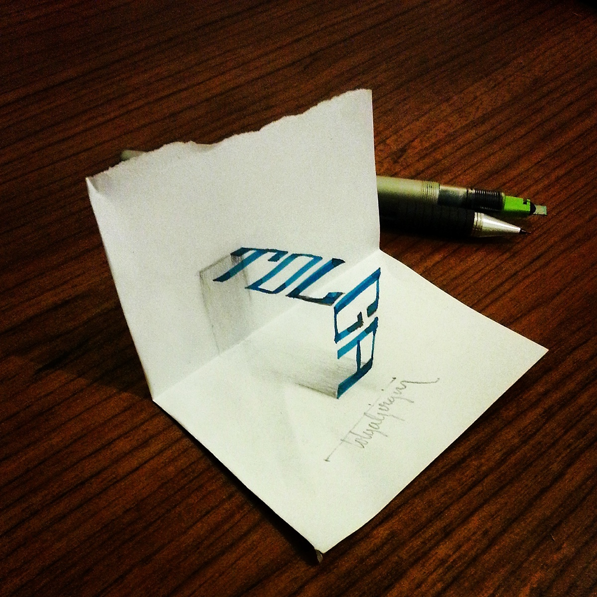 Insane 3d Calligraphy That Curls Right Off The Page