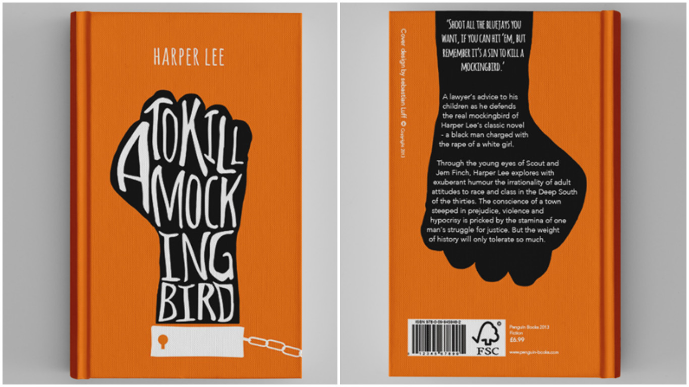20 beautifully designed book covers of harper lee s to kill a design by sebastian andreas