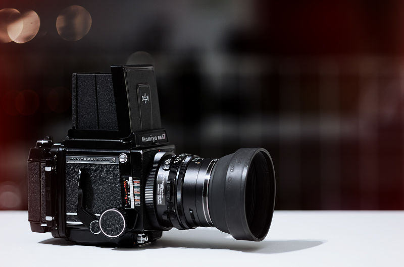 A vintage Mamiya RB67 Professional S camera. Photo by 55Laney69.