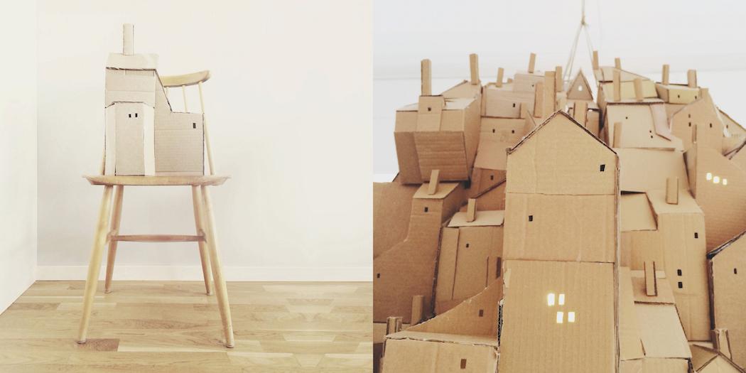 nina lindgren floating city cardboard 5