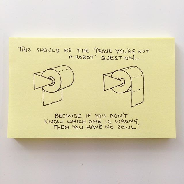 post-it toilet paper
