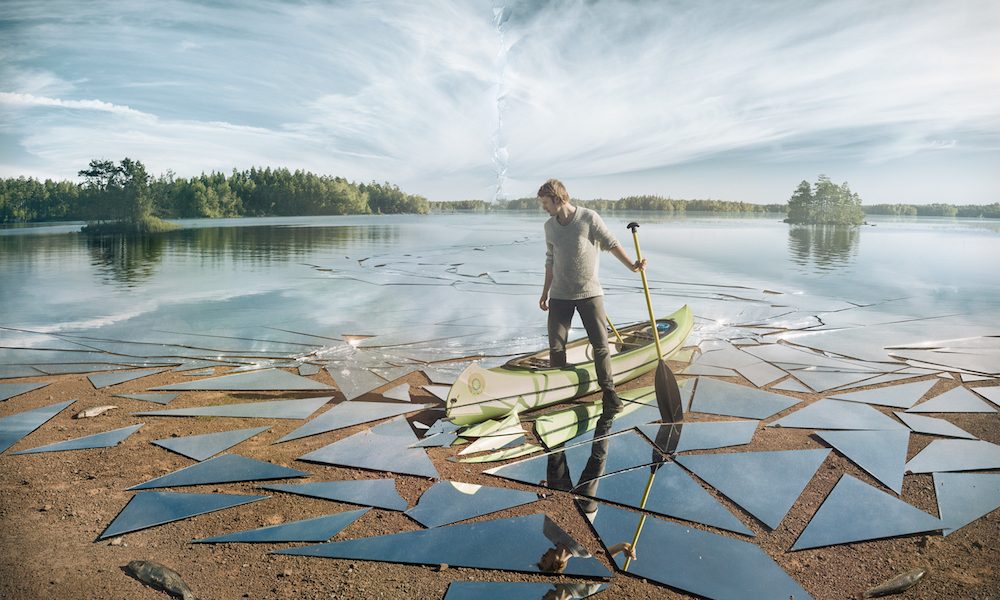"""Impact,"" a lake of mirrors, by Erik Johansson"