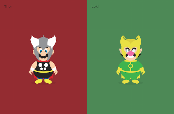 Super Mario vs. Super Wario, by Rob Lafratta