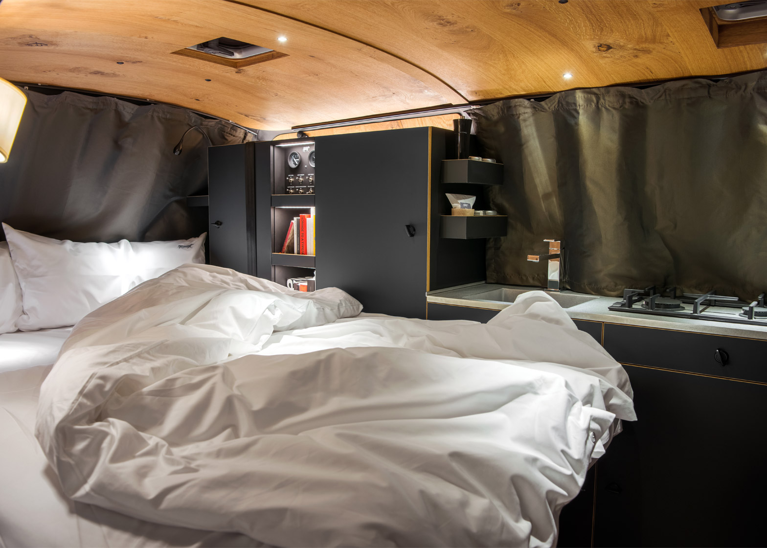 this minimalist camper van is a designers dream. Black Bedroom Furniture Sets. Home Design Ideas