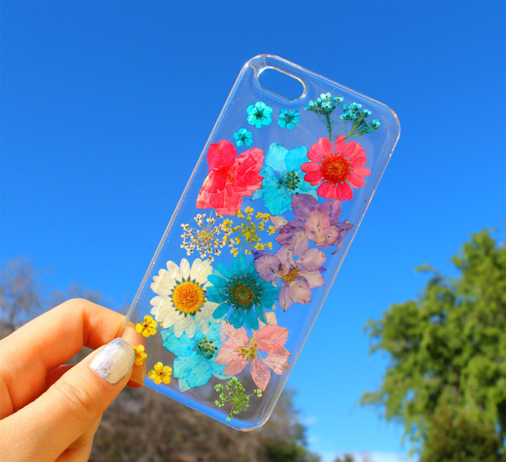 house of bling pressed flower phone case 2