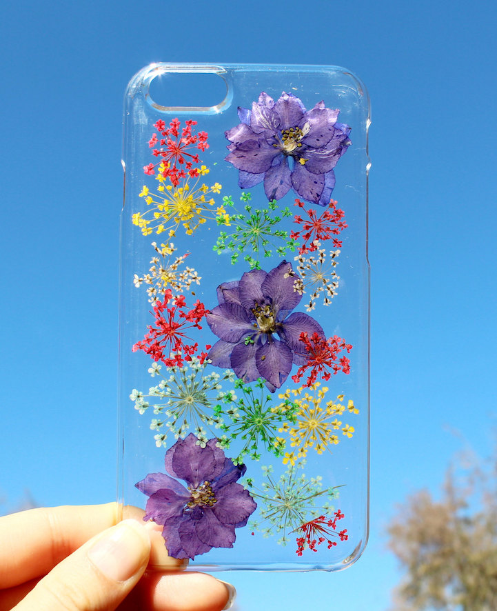 house of bling pressed flower phone case 3
