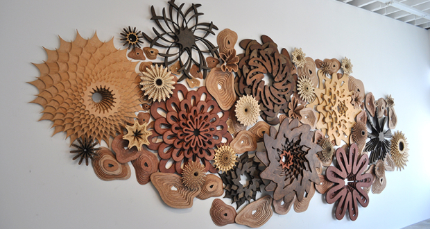 Wooden Cutout Reef Wall