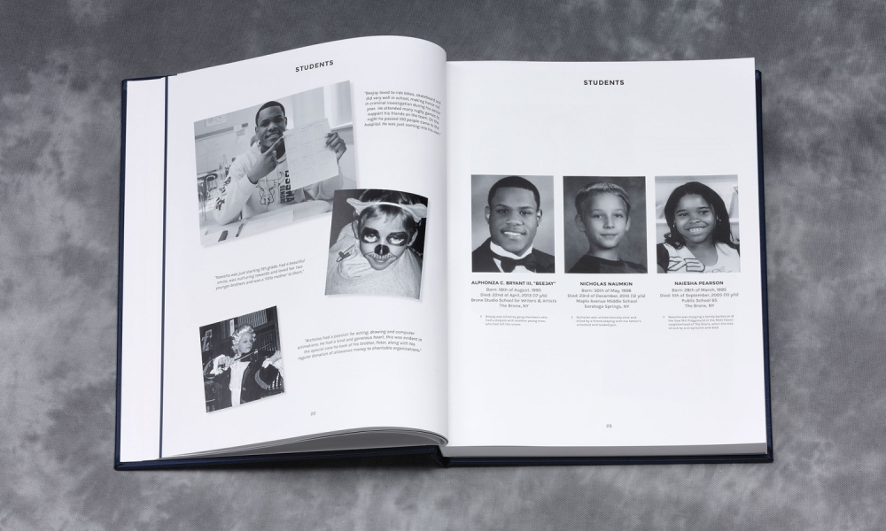 """""""Sign Their Yearbook,"""" by Volt and New Yorkers Against Gun Violence"""