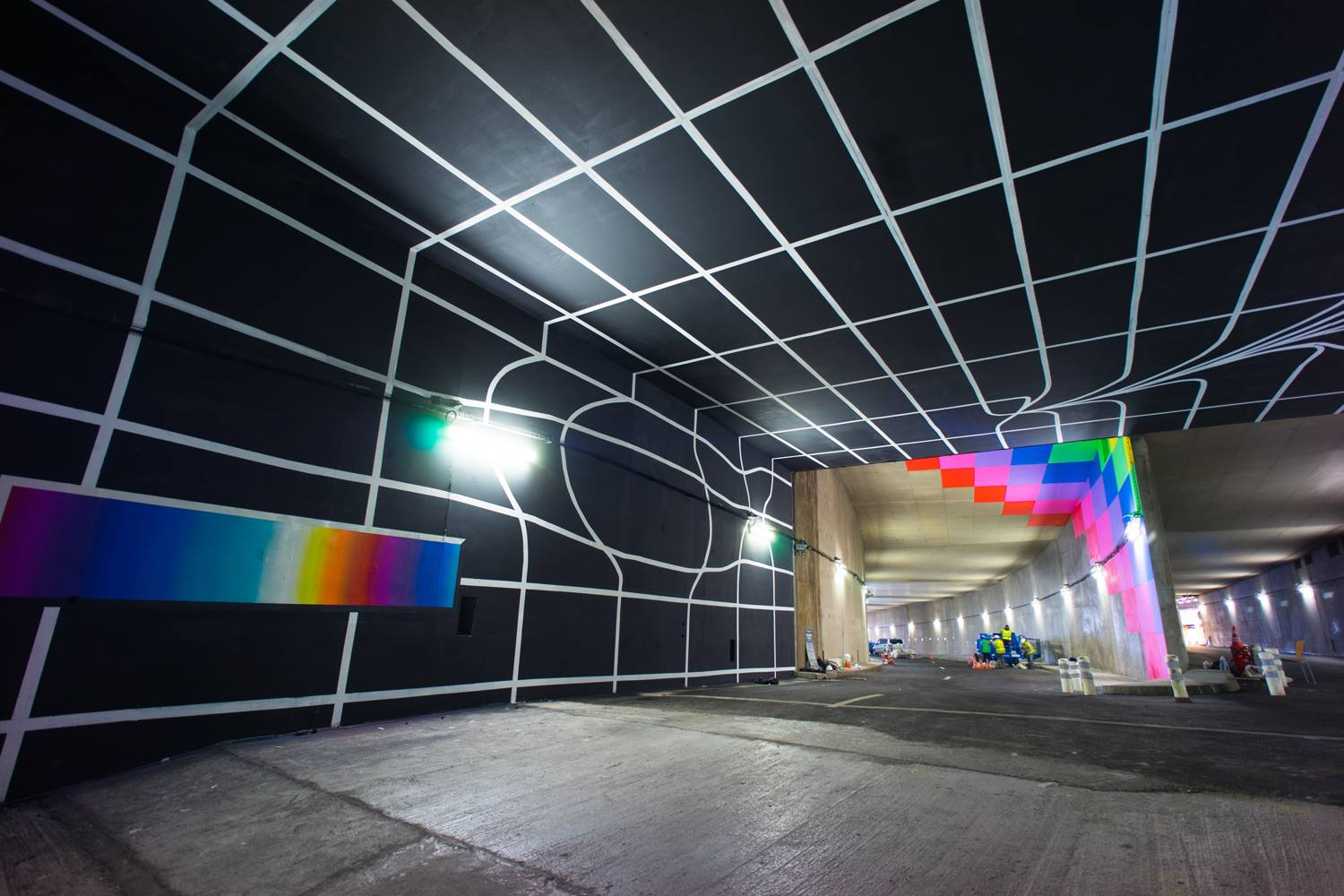 Lasco Project (Tron Paris), by Felipe Pantone