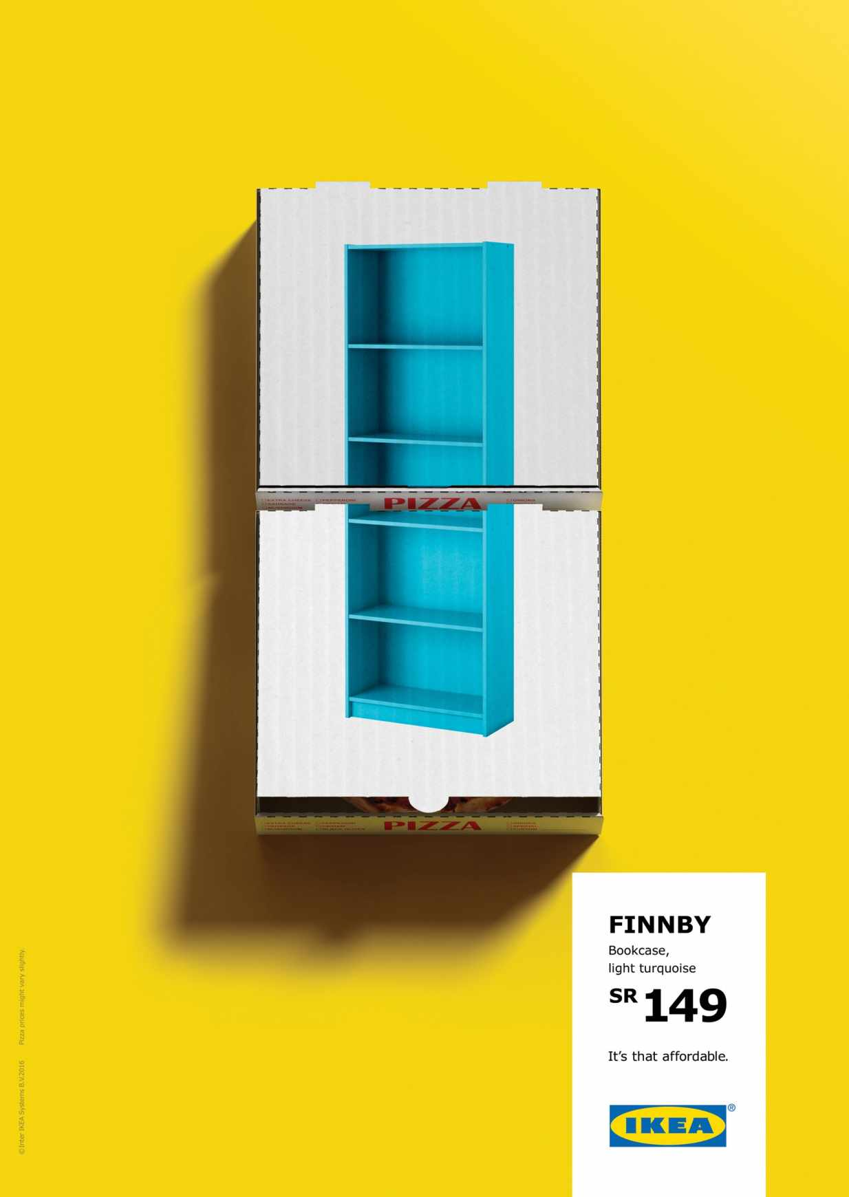 Superb IKEA ad campaign bookshelf