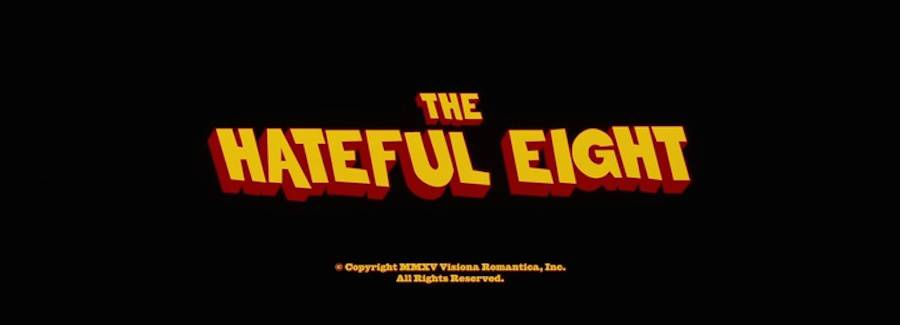 movie title design the hateful eight
