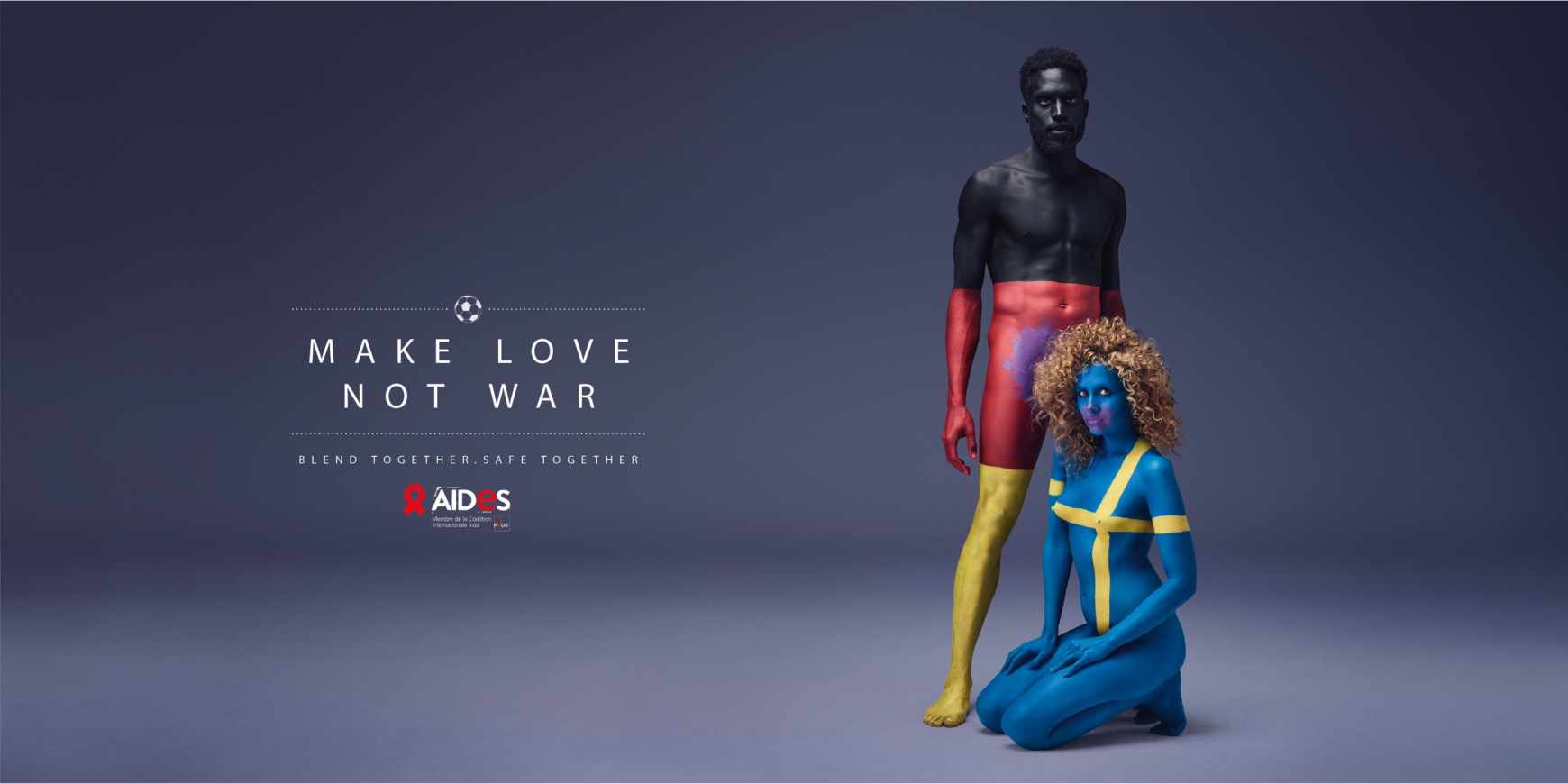 Aides: Make Love, Not War - football ads by TBWA