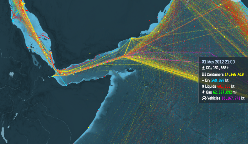 Interactive Shipping Routes Map2