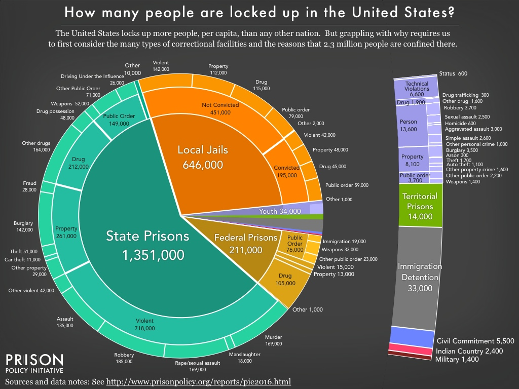 This Eye-Opening Prison Population Pie Chart Will Blow Your Mind