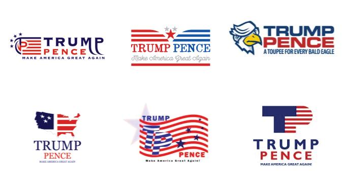 Trump-Pence Logos, by LogoMyWay Designers