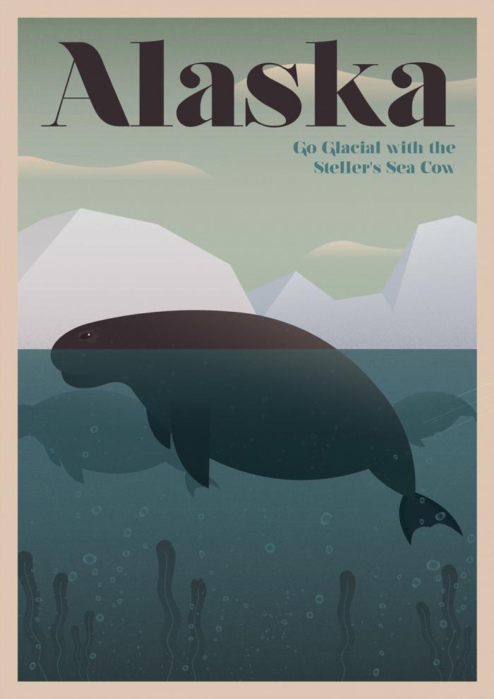 Alaska Steller's Sea Cow Poster