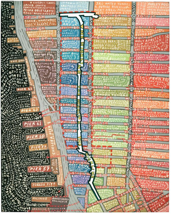 Paula Scher: High Line, 2005