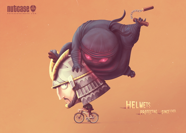 nutcase helmet ads ninja