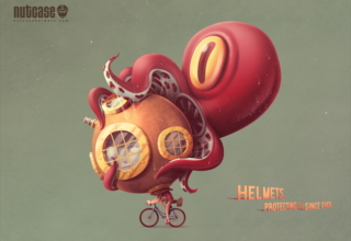 nutcase helmet ads octopus